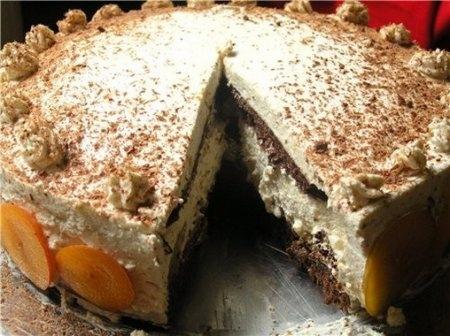 Сливово-ореховый торт с коньячным кремом